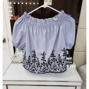 Rebellion Women Embroidered Top Size S